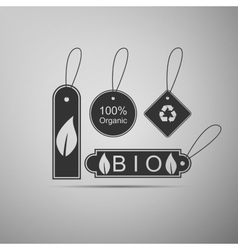 Eco tags icon vector