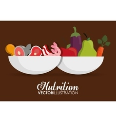 Food icon set nutrition and organic design vector