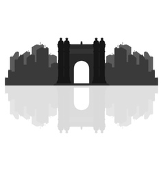 Triumphal arch in barcelona vector