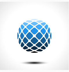 abstract globe design icon vector image
