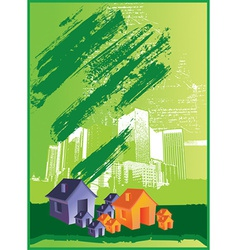 Abstract house vector image