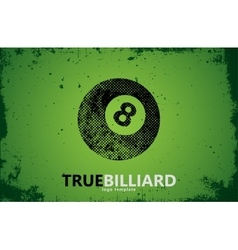 billiard Billiard logo design Billiard ball vector image vector image