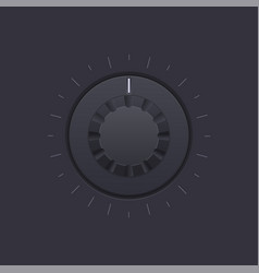 Black round knob button vector