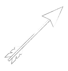 bow arrow isolated vector image