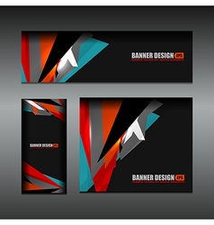 business banner dark color design vector image vector image