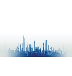 Cityscape with fade blue vector