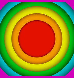 Concentric circles lgbt rainbow flag gay colors vector