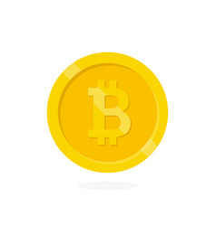 Crypto currency bitcoin vector