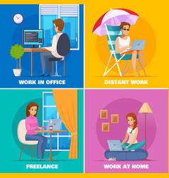 Designer artist concept icons set vector