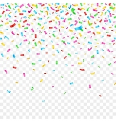 Falling confetti isolated on checkered background vector image vector image