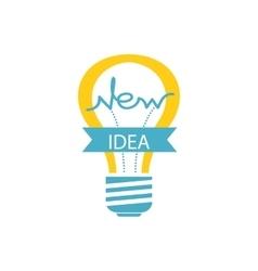 Glowing Yellow Light Bulb New Idea vector image vector image