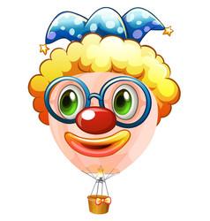 Hotair balloon with jester face vector