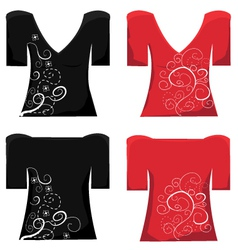 Ladies Top vector image vector image