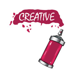 Logo sprays with pink paint vector