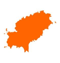 Map of Ibiza vector image vector image
