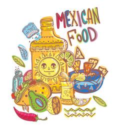 Mexico food collection vector