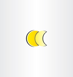 moon full and half star icon vector image