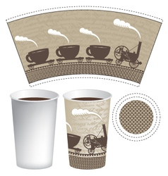 pattern paper cup vector image