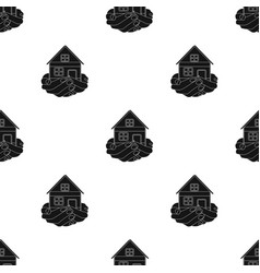 Property donation icon in black style isolated on vector