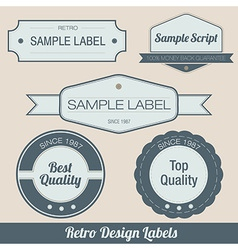 retro labels vector image vector image