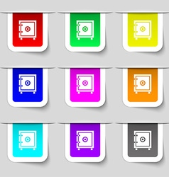 Safe money icon sign Set of multicolored modern vector image