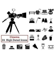 Set of 24 Cinema Icons vector image