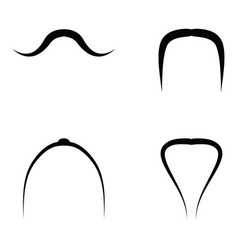 set of mustache vector image vector image