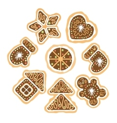 Set of the christmas cookies vector