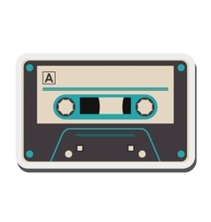single cassette icon vector image vector image