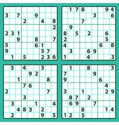 Sudoku vector image vector image