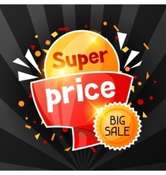 Super price sale banner advertising flyer for vector