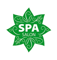 vegetative logo for Spa salon vector image vector image