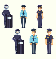 - policeman policewoman special forces vector image