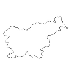 Map of slovenia vector