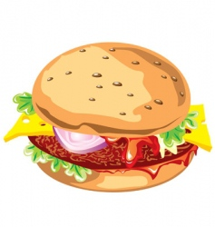 gamburger vector image
