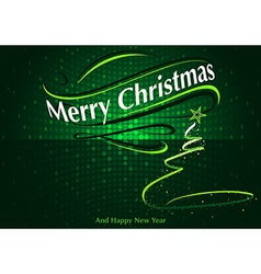 Abstract green christmas greeting vector