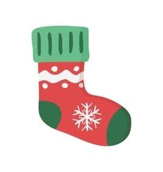 Christmas sock isolated vector