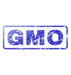 Gmo rubber stamp vector