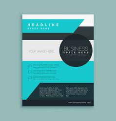 Business magazine template design vector