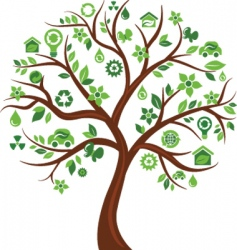 Environmental icons tree vector