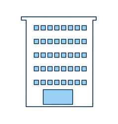 exterior building drawing icon vector image