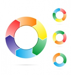 arrows in a circle flow vector image
