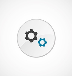 Settings icon 2 colored vector