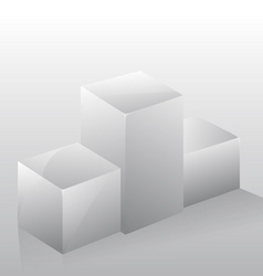 3d isolated podium pedestal vector image
