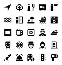 Tourism and travel icons 8 vector