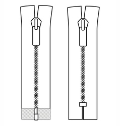Zipper types closed-ended and open-ended scheme vector