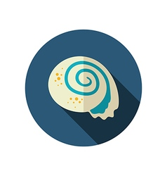 Seashell flat icon summer vacation vector
