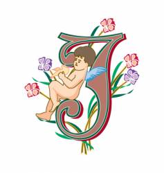 fairytale letter j vector image