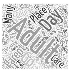 A Place to Go Word Cloud Concept vector image