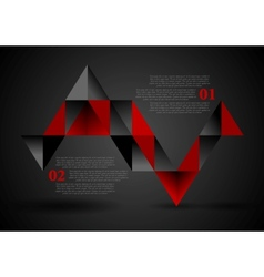 Abstract dark triangles infographics design vector